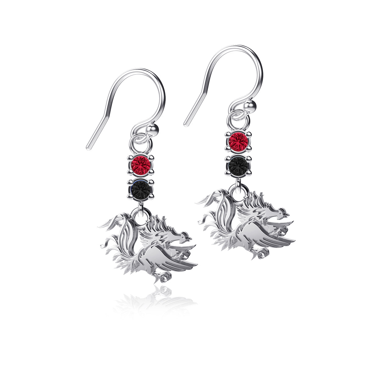University of South Carolina Crystal Dangle Earrings
