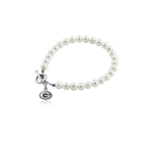 University of Georgia Pearl Bracelet