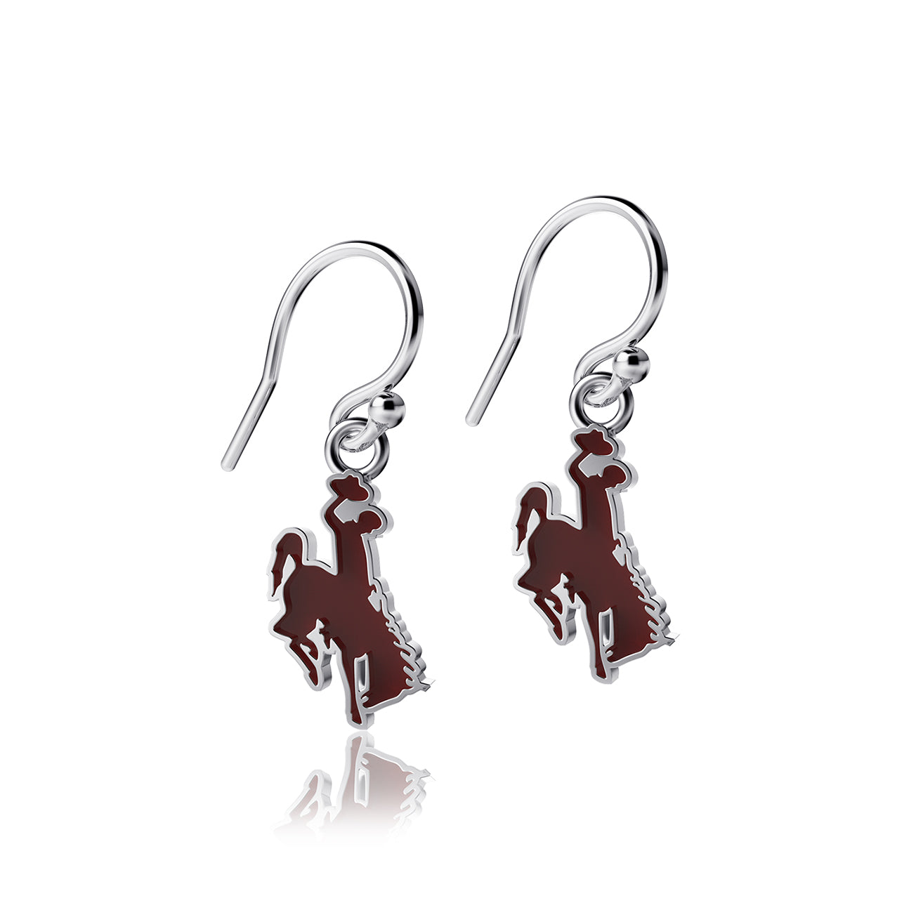 University of Wyoming Dangle Earrings - Enamel