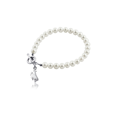 University of Wyoming Pearl Bracelet