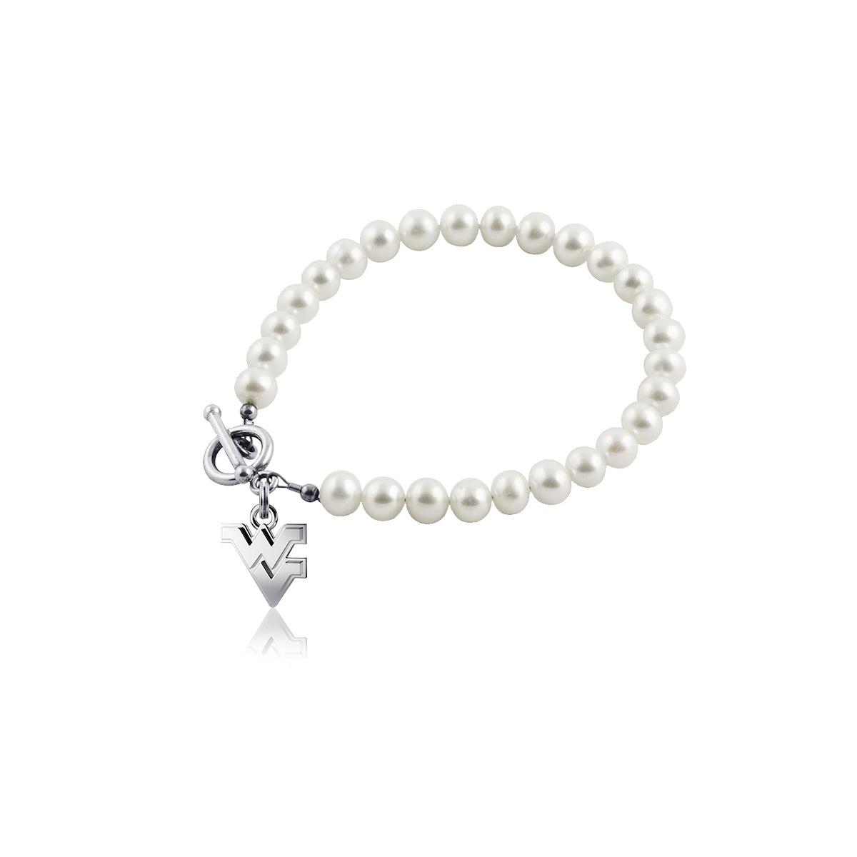 West Virginia University Pearl Bracelet
