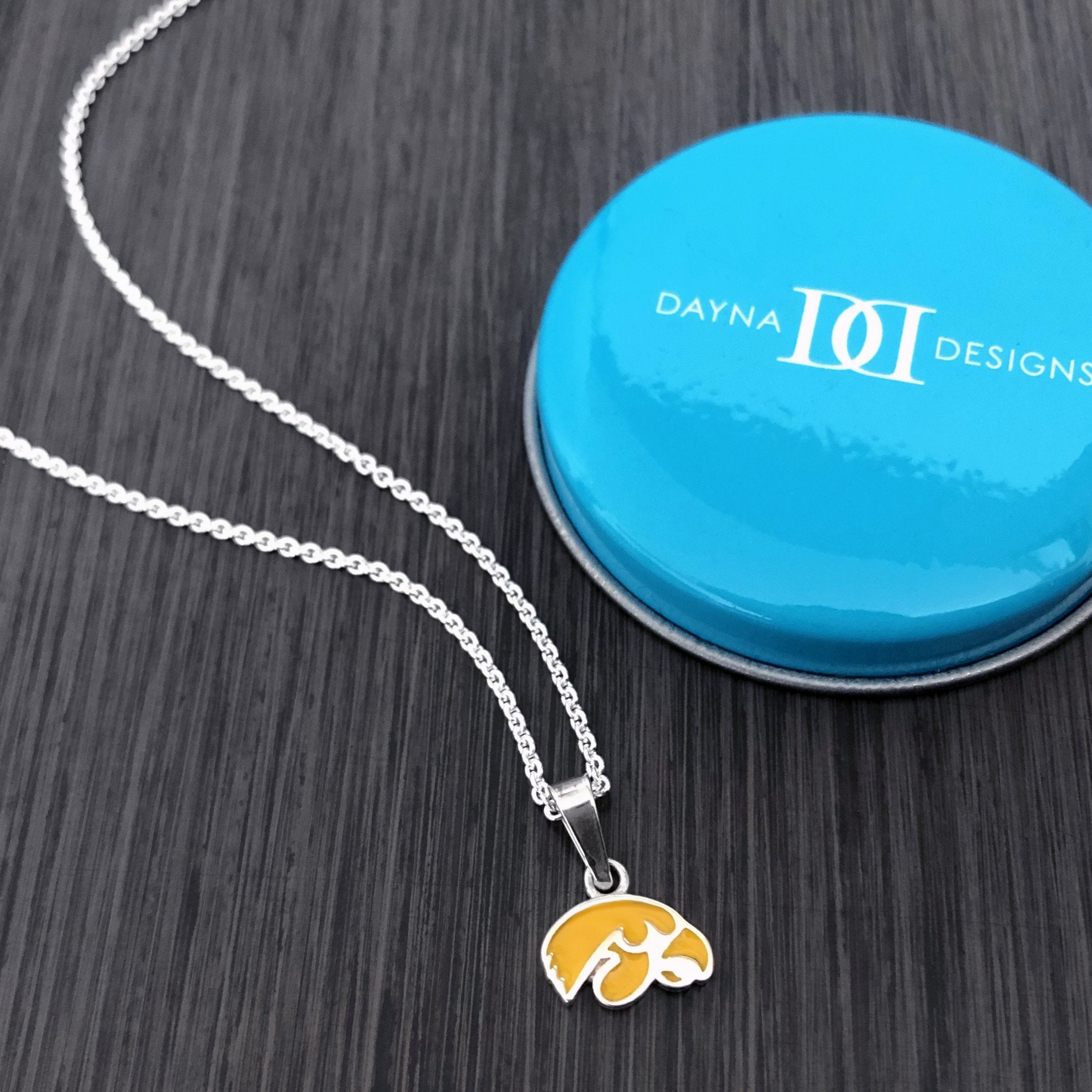 University of Iowa Pendant Necklace - Enamel