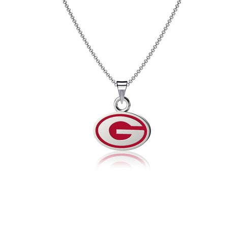 University of Georgia Pendant Necklace - Enamel