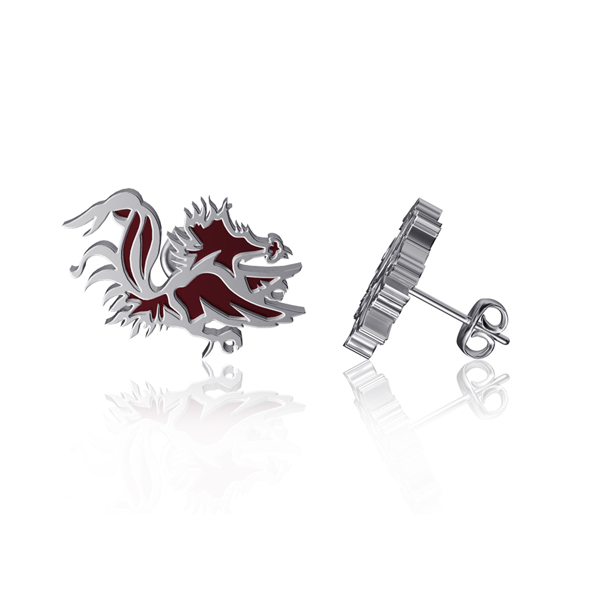 University of South Carolina Post Earrings - Enamel