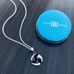 Triathlon Pendant Necklace - Enamel