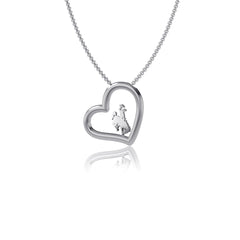 University of Wyoming Heart Necklace
