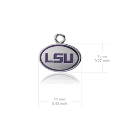 Louisiana State University Dangle Earrings - Enamel