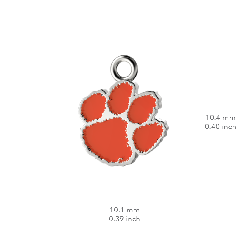 Clemson University Post Earrings - Enamel