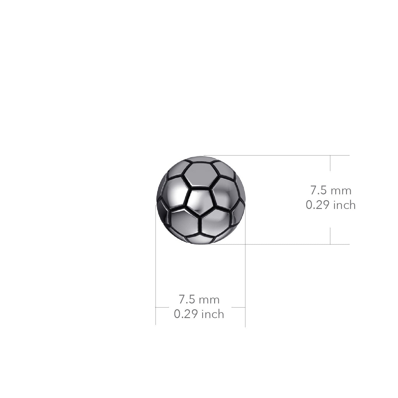 Soccer Ball Post Earrings