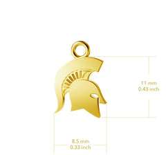 Michigan State University Post Earrings - Gold Plated