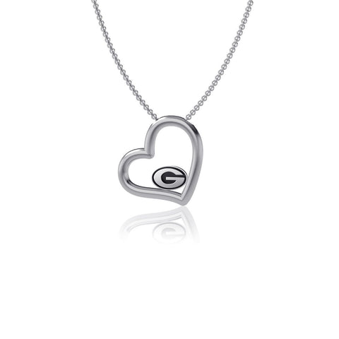 University of Georgia Heart Necklace