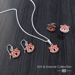 Auburn University Pendant Necklace - Enamel
