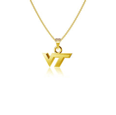 Virginia Tech University Pendant Necklace - Gold Plated