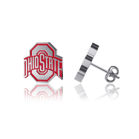 Ohio State University Post Earrings - Enamel