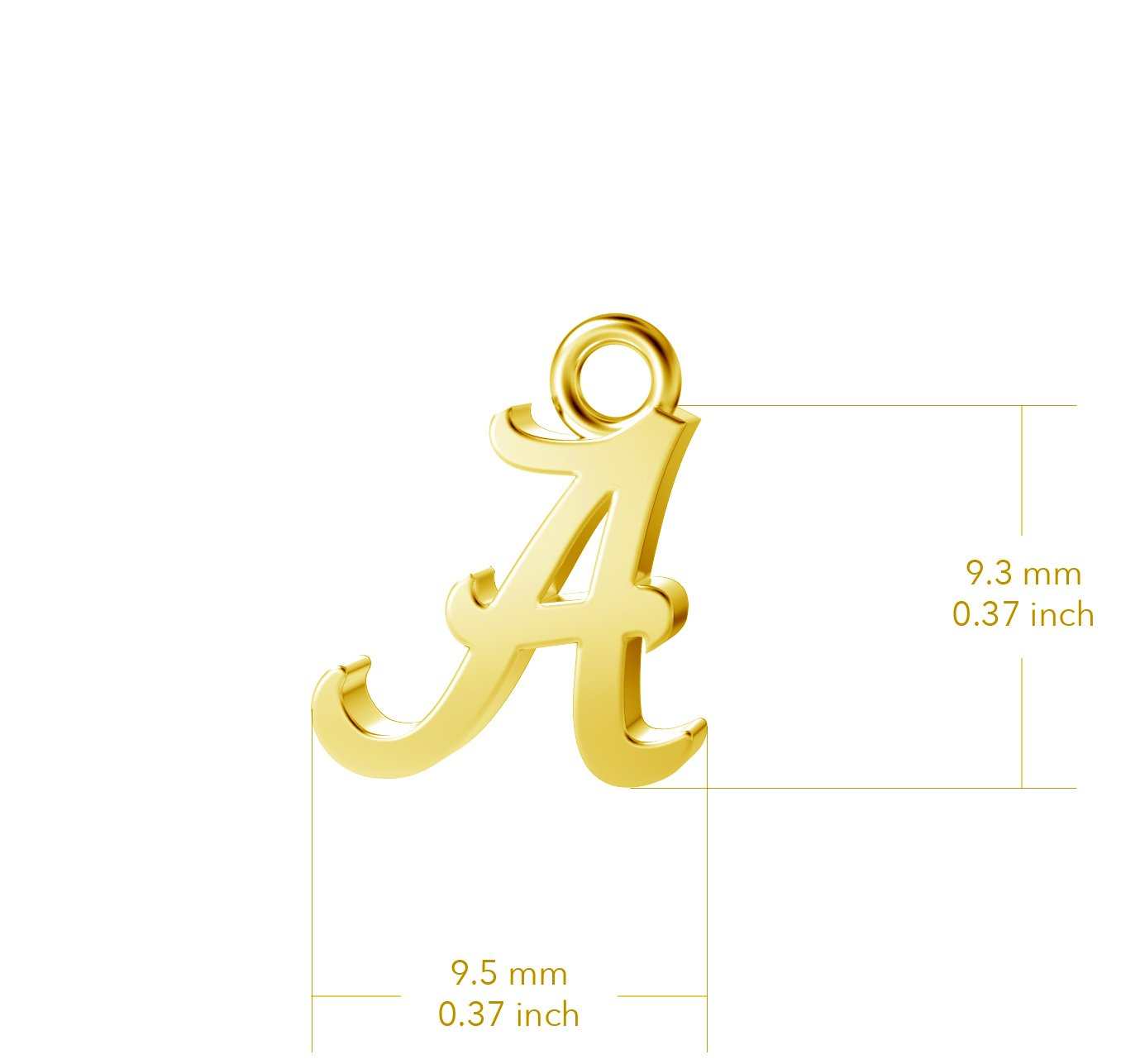 University of Alabama Post Earrings - Gold Plated
