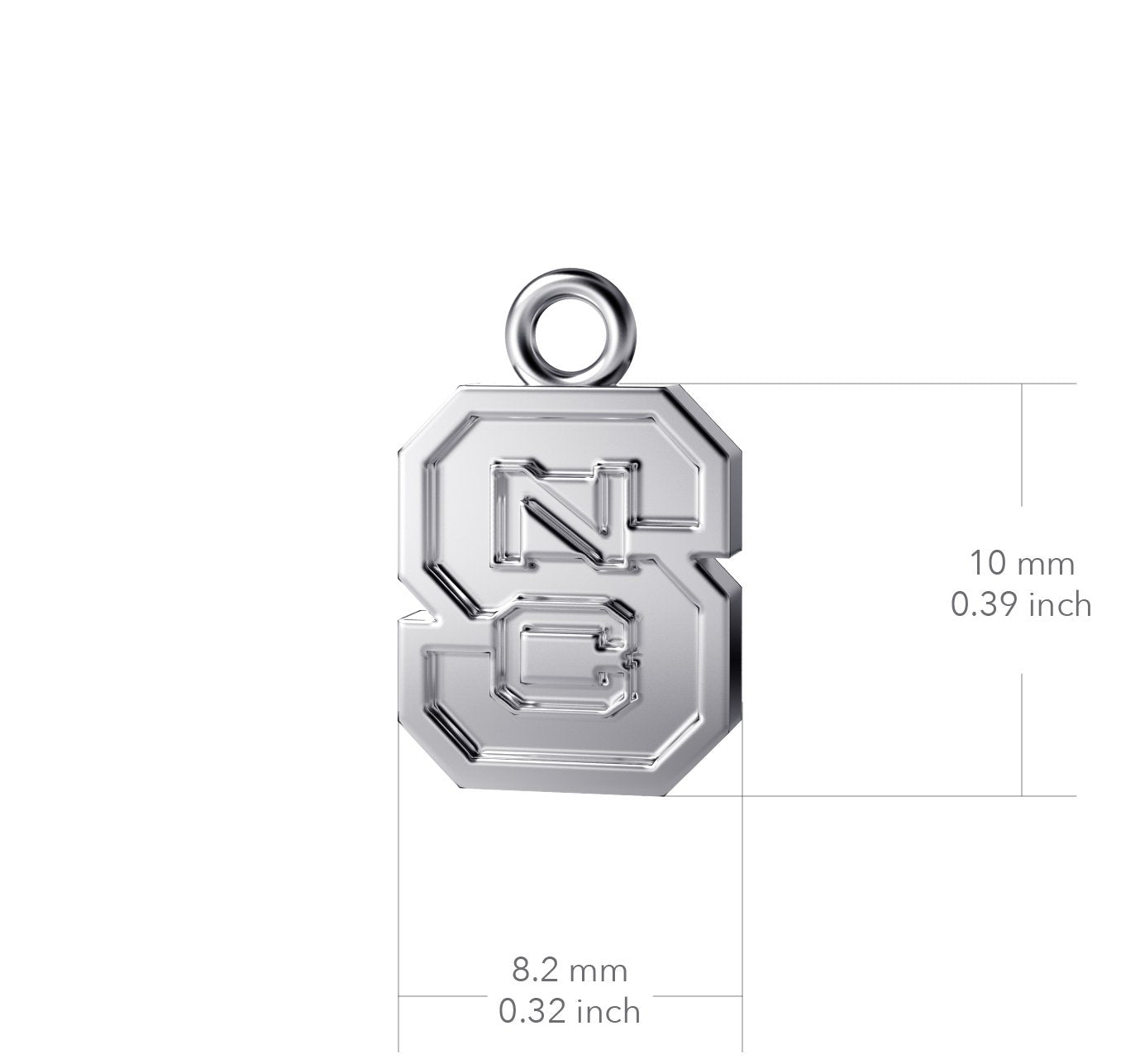 NC State University Heart Necklace