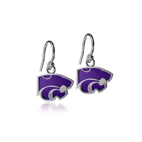 Kansas State University Dangle Earrings - Enamel