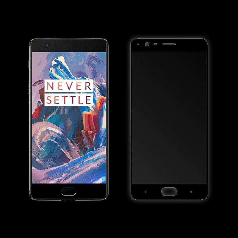 Curved Tempered Glass for OnePlus 3T (Black)