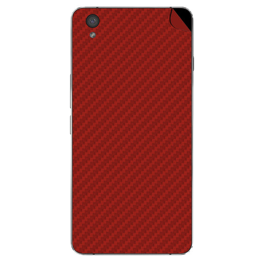 Red Carbon Fiber Skin - OnePlusX