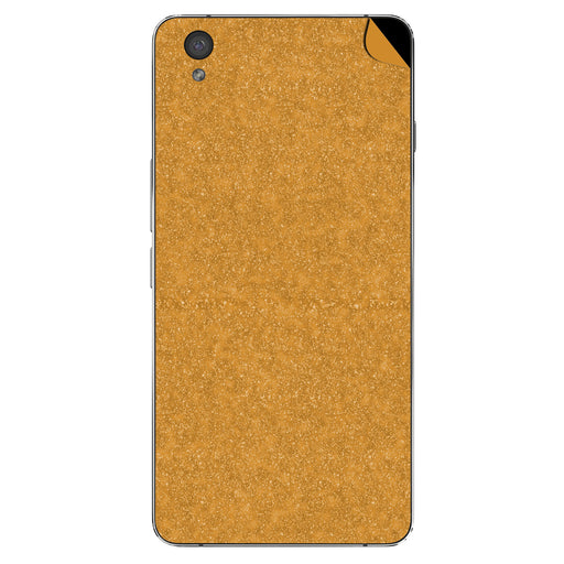 Gold Glitter Skin - One Plus X