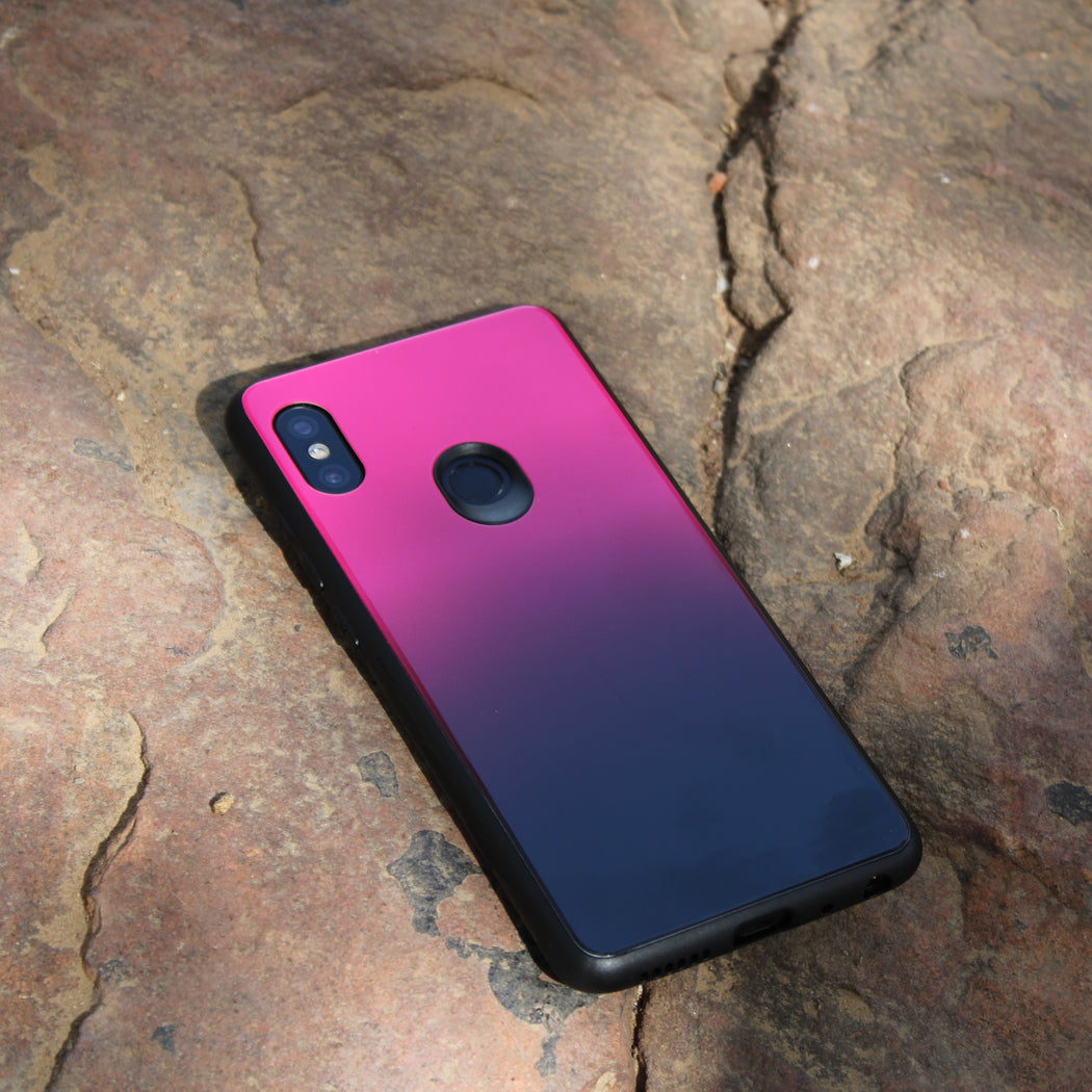 Glass Back Case- XIAOMI REDMI NOTE 7/7 Pro (GRADIENT)