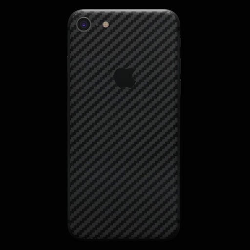Black Carbon Fiber Skin - iPhone 8