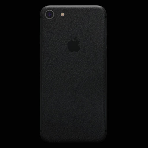 Black Leather Skin - iPhone 8