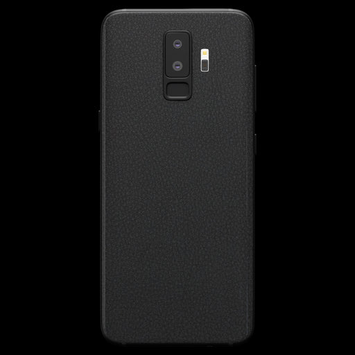 Black Leather Skin - Samsung S9 Plus
