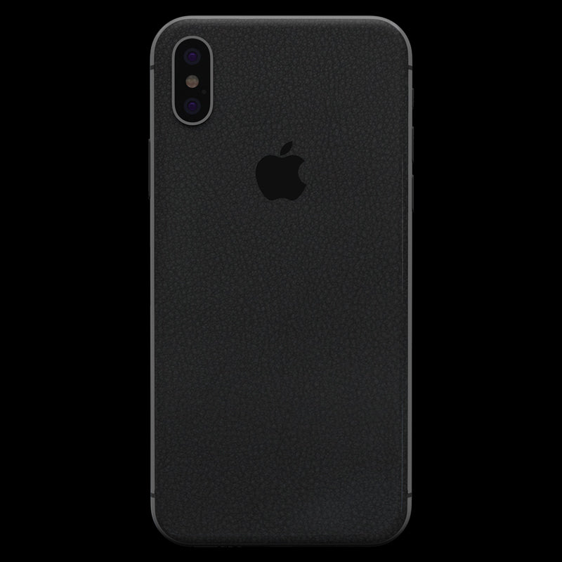 Black Leather Skin - iPhone X
