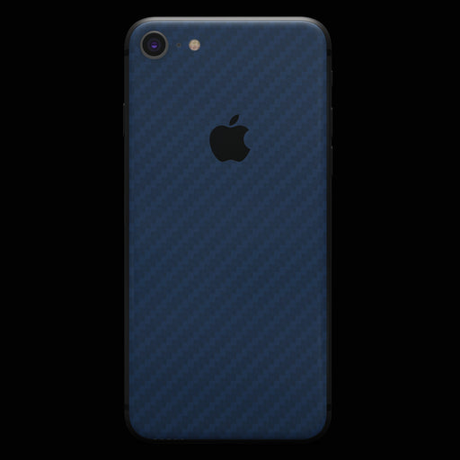 Blue Carbon Fiber Skin - iPhone 8