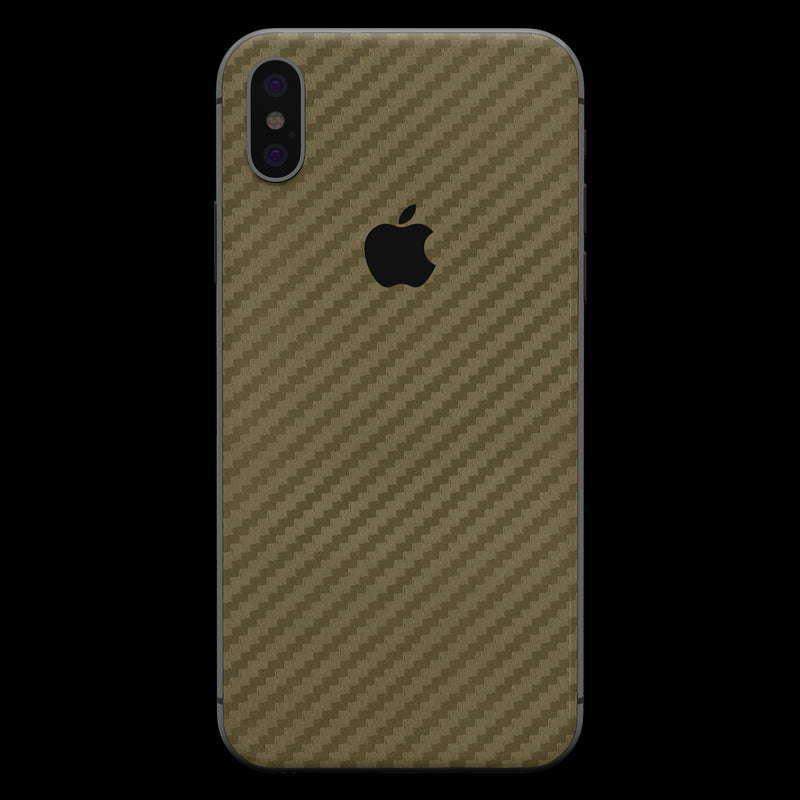 Gold Carbon Fiber - iPhone X