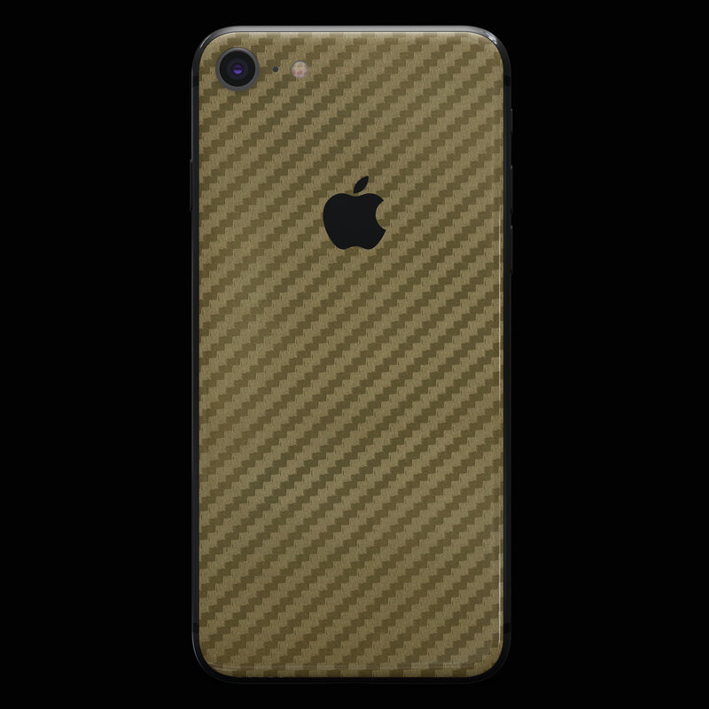 Gold Carbon Fiber - iPhone 8