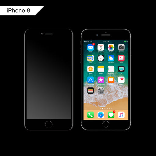 3D Curved Tempered Glass for iPhone 8 (Black)