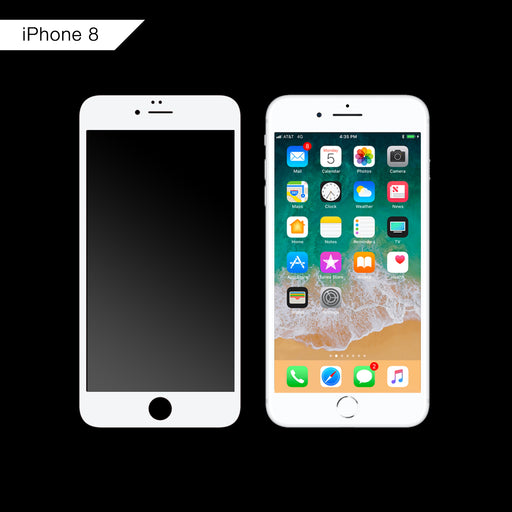 3D Curved Tempered Glass for iPhone 8 (White)
