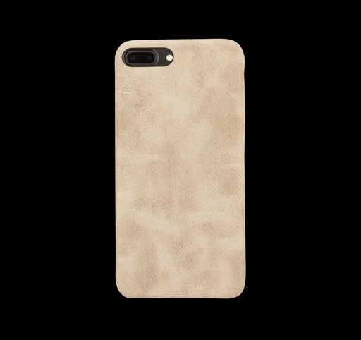 Beige Leather Case - iPhone 8 Plus