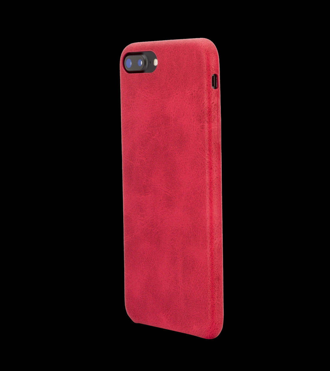 Red Leather Case - iPhone 8 Plus