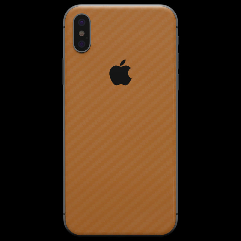 half off 4b583 1e91f Orange Carbon Fiber Skin - iPhone X