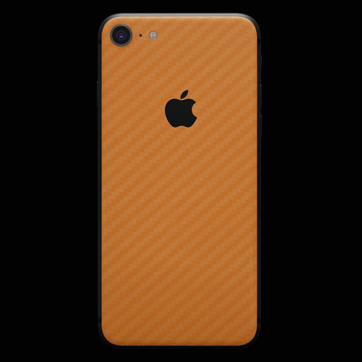 Orange Carbon Fiber Skin - iPhone 8