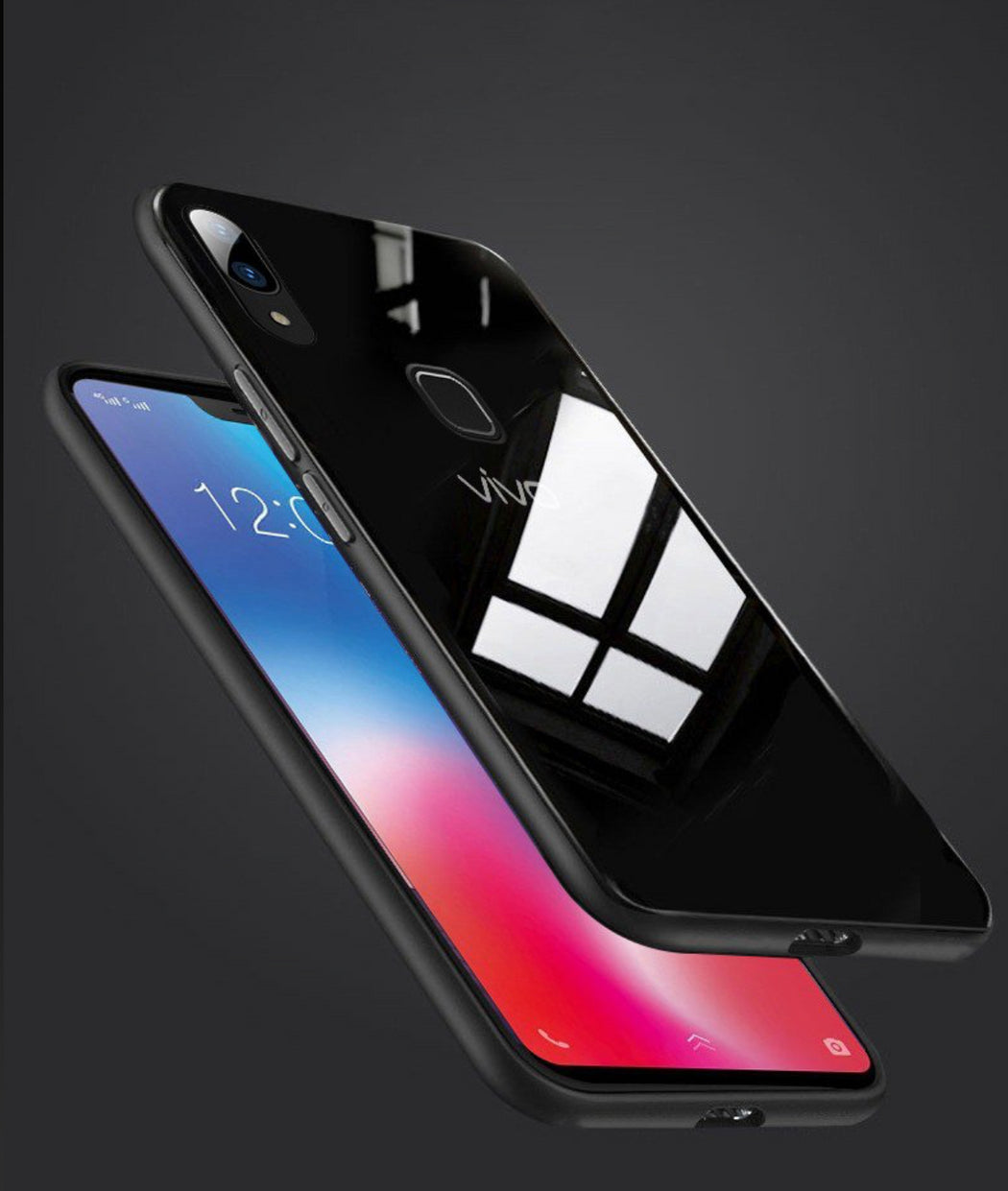 pretty nice a2f01 3ae71 Glass Back Case- VIVO V9