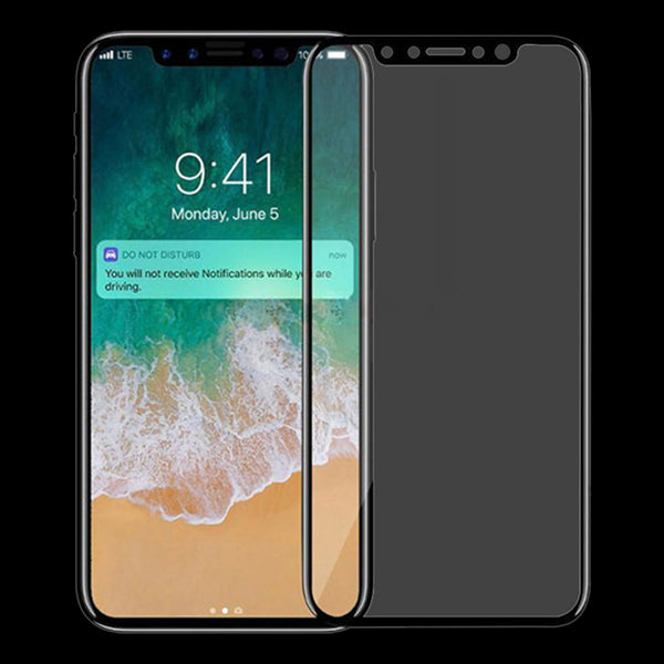 3D Curved Tempered Glass for iPhone X (Black)