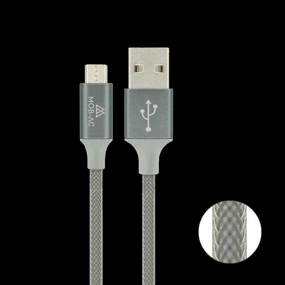 Braided Tough Cable - (Micro USB to USB)