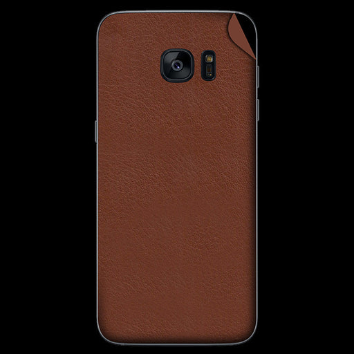Brown Leather Skin - Samsung S7/ S7 Edge