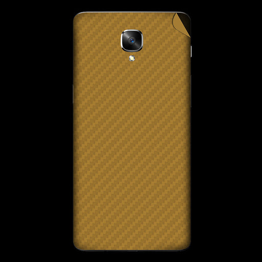 Gold Carbon Fiber Skin - OnePlus 3T