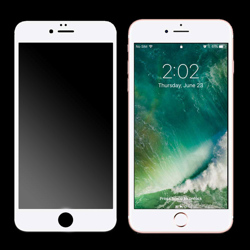 3D Curved Tempered Glass for iPhone 7/8 Plus (White)
