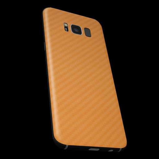 Orange Carbon Fiber Skin - Samsung S8/ S8+