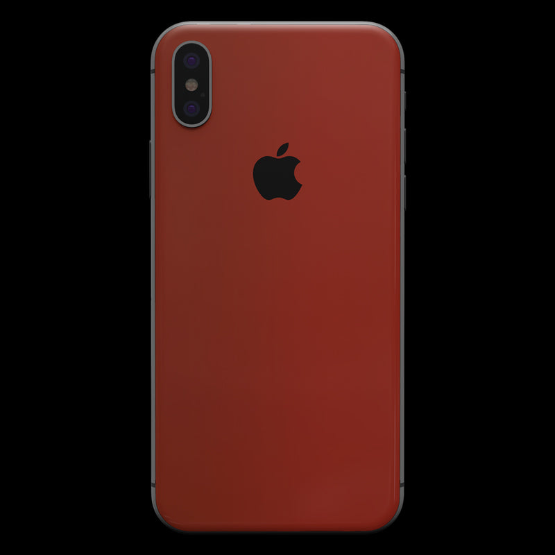 Red Satin Skin - iPhone XS