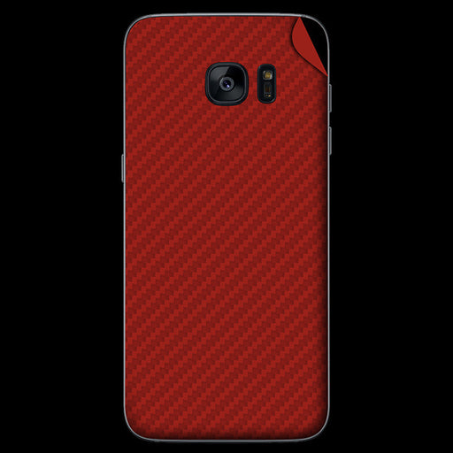 Red Carbon Fiber Skin - Samsung S7/ S7 Edge