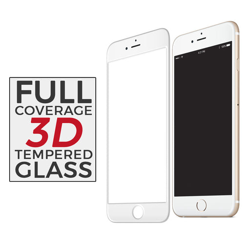 3D Curved Tempered Glass for iPhone 6/6S (White)