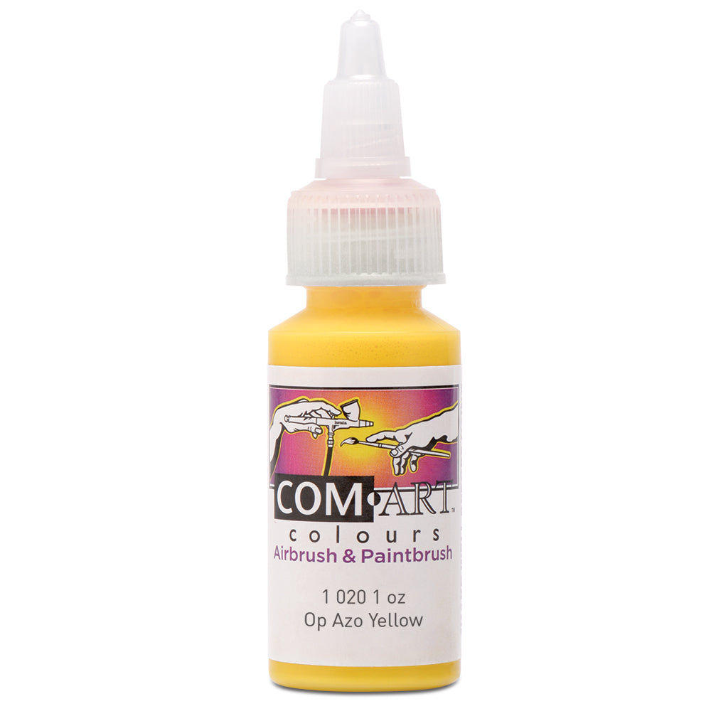 Com Art Colours Acrylic Opaque Azo Yellow 1 oz