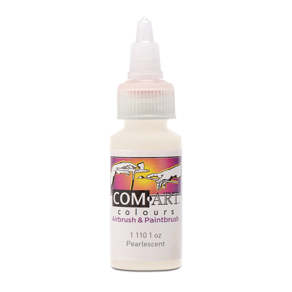 Com Art Colours Water-Based Acrylic Opaque Pearlescent 1oz For Airbrush And Paintbrush